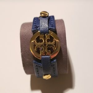 """Tory Burch """"Stacked T"""" leather bracelet"""